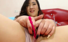 Asian cutie fucked close to toys and stuff