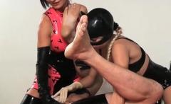 Female Domination As Mistresse Fucks Slave's Throat Hard