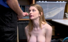 Skinny blonde shoplifter gets caught and punish fucked