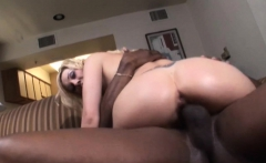 Samantha Sinn squirts for black cock