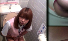 Uniformed Asian Peeing