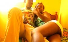 Slutty African Amateur Rides BBC for Cash