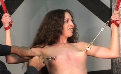 Angel enjoys private moments of non-professional bondage