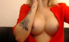 Amateur MILF Teasing Her Big Nipples and Clit