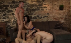 Katy and her friends share a dick