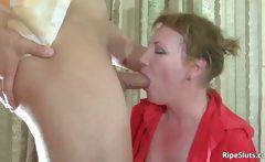 Big muscle guy seduced by horny slut