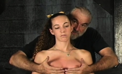 Rough spanking and harsh thraldom on woman's cookie