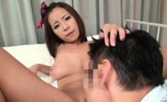 Big tit angel shoves toy in hairy cunt and copulates herself