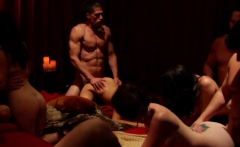 Couples finally meet up to bang hard in the red room