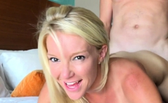 Hot blonde Laura is taken to fancy hotel for a hard banging
