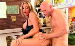 Slutty blonde Barista Samantha Saint