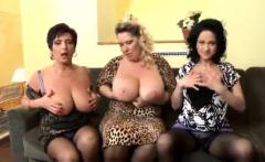 POV mature big tits lesbians