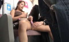 Cock loving slut gets screwed by a couple studs in public