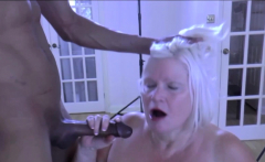 LACEYSTARR - BBC double team works on insatiable granny