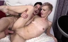 Natural tits mature blowjob with facial