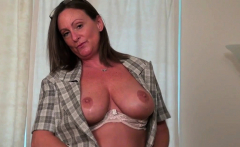 Office milf Blake from the US dildos her fuckable pussy