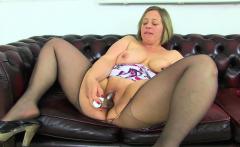 Pure pleasure awaits you when UK BBW Jayne Storm undresses