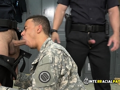 Bogus Soldier Is Coerced By Gay Cops Into Taking