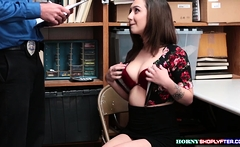 Lily seduces Officer and gets fucked hard
