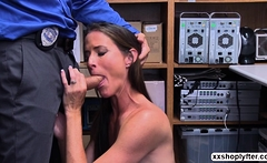 Shoplifter Babe Sofie Marie gets fuck by a LP Officer