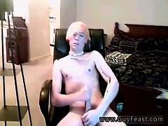 Long Hair Gay Boys Young With The Bleach Platinum-blonde Hai