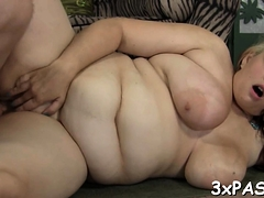 Raunchy Plump Is Feeling Fat Knob Stuffing Throat And Cunt