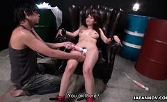 Japanese slut Mikuni Maisaki did it with two guys uncensored