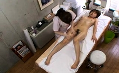 Japanese massage with pussy fingering