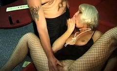 Group sex with girls in stockings