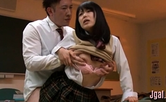 Naughty japanese angel in act