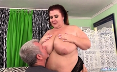 Mature BBW Lady Lynn Worshiped and Boned