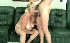 Hairy Fat Mature Grandma Gabi Seduce to Fuck by Young Guy