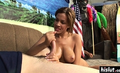 Amazing hottie sucks on a dick
