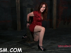 Alluring Redhead Girlie Is Showing Her Sissy