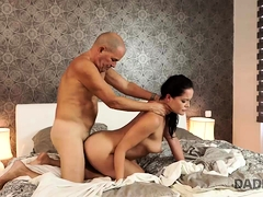 DADDY4K. Daddy fucks beautiful brunette instead
