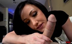 My MILF stepmom came home early to suck my big dick