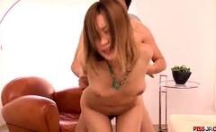 Naked Japanese female tries sex wi - More at Pissjp.com