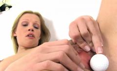 Blonde diva getting ready to masturbate like crazy