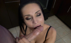 Crystal sucks off Ikes cock for breakfast