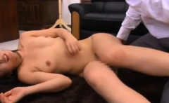 Oriental teacher gets down on her knees and blows dong
