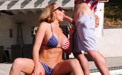 Hot sex with stepmommy during 4th for July