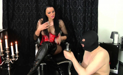 german bdsm spitting and piss game from domina