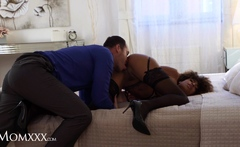 MOM.XXX Interracial bondage fantasy with ebony latina