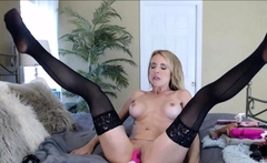 Thirsty Blonde MILF Masturbating 24h on Cams
