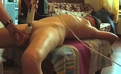 Tied mom Gwen fucked with huge toys