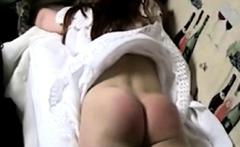 Russian Irina 18 gets her ass flogged red