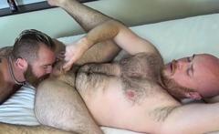 HAIRYANDRAW Zack Ackland Gives Head Before Fucking Hairy Guy