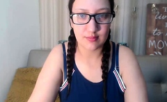 BBW on webcam close up