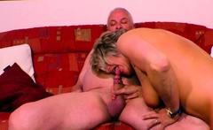 German Grandmother Fucks Grandpa With Saggy Tits