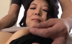 Japanese in pink lingerie uses her sex toy